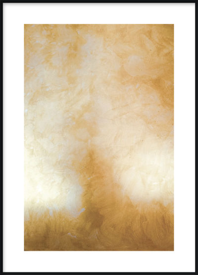 Abstract Gold Poster