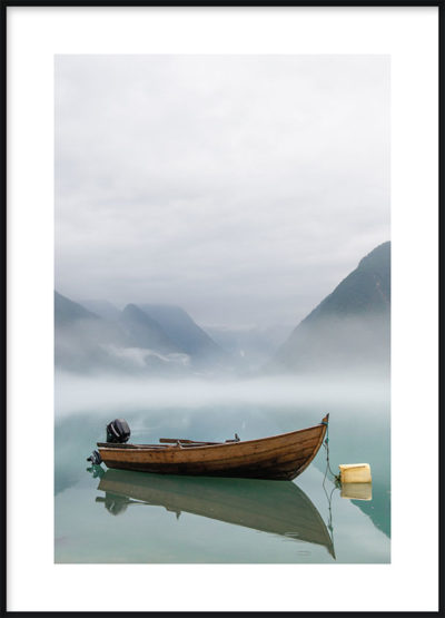 Boat in a Lake Poster