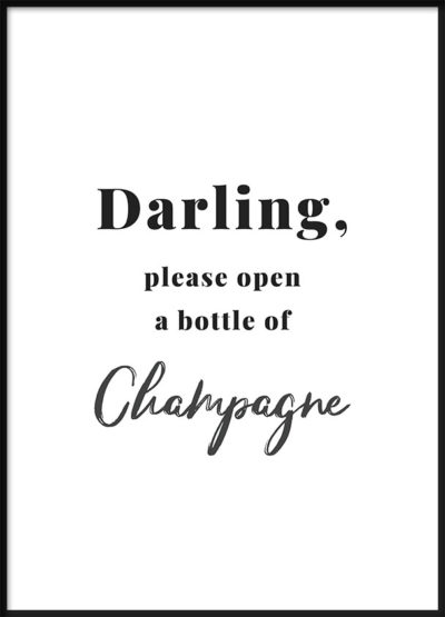 Bottle of Champagne Poster