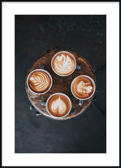 Four Coffees Poster