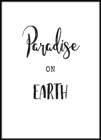 Paradise on Earth Poster