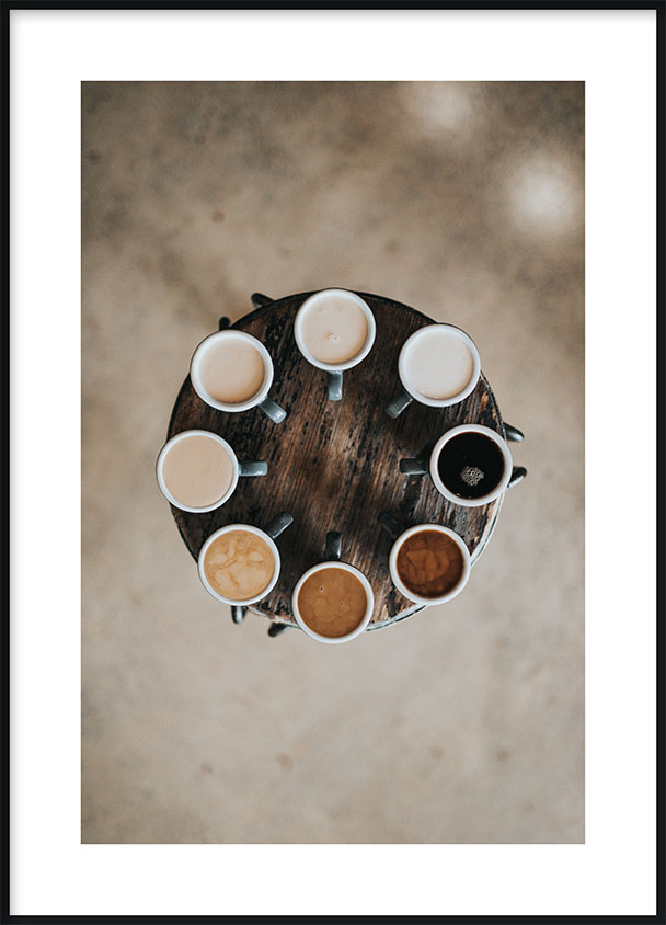 Shades of Coffee Poster