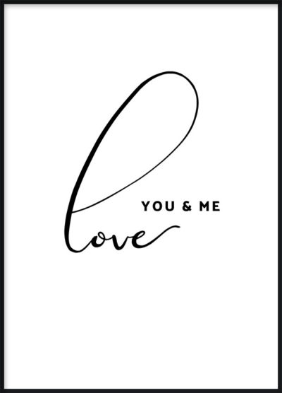 You & Me Love Poster