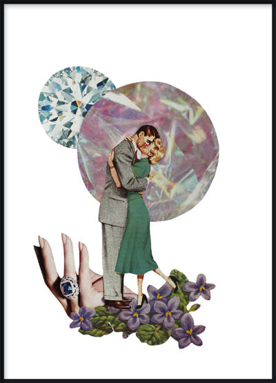 Collage Couple Poster