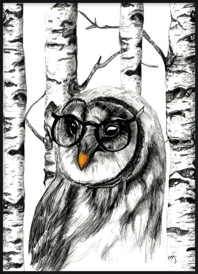 Forest Owl Poster