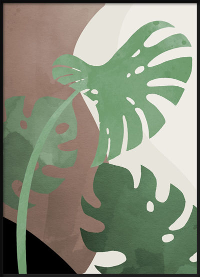 Monstera Cut Out 1 Poster