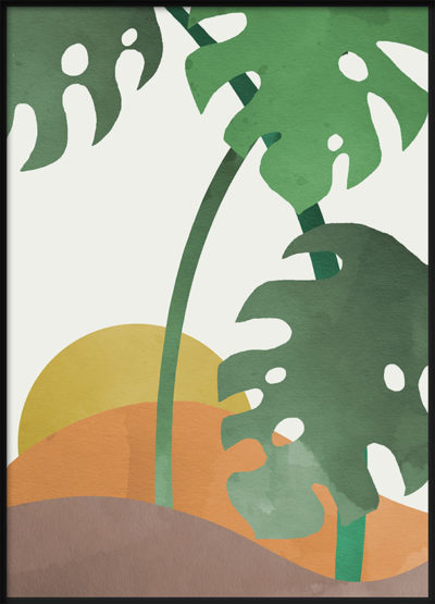 Monstera Cut Out 2 Poster
